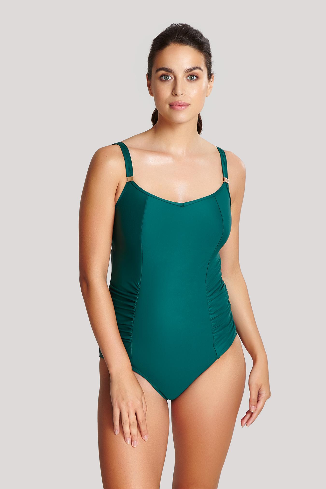Panache BLACK Anya Bra-Sized Balconnet One-Piece Swimsuit US 38GG