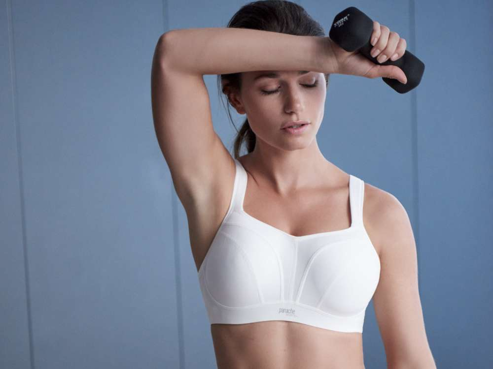 Wired Sports bra in White by Panache LIngerie