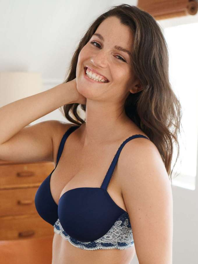 Panache Clara Moulded in Navy by Panache Lingerie