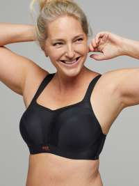 Ladies Sports Bra High Impact Unpadded Non Wired UK B J Cups On Trend Colours